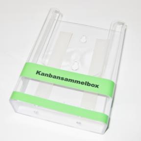Kanbansammelbox A6 mit grüner Aufschrift
