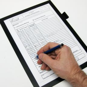 Produktabbildung Dokumentenhalter A4 Kleb Fen