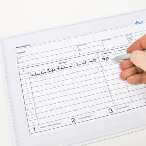 Kennzahlen können in der Magnettasche A4 Fen direkt beschriftet werden