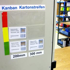 Kanbankarte Falt 102x70 E, sind einfach und individuell bedruckbar