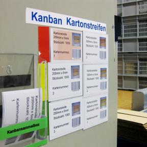Kanbanhalter Mag 110x80 E mit mehreren Kanbankarten