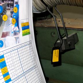 IH-Routenpunkt LamS je nach Wartungsplan direkt als Markierung an der Anlage angebracht werden