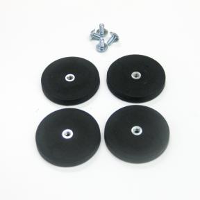 Plattenhalter Mag S im Set mit 4 Topfmagneten und den passenden Schrauben