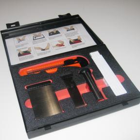 Offener Koffer mit 5S Schaumstoffschneideset