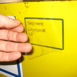 Das Anlagenvisukett A7T kann zur visuellen Markierungen von Maschinenabschnitten genutzt werden