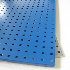 Lochplatte M in den Farben silber und blau