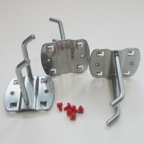 Werkzeugdoppelhaken S75 im Set zu 3 Stück mit Schrauben zum Fixieren