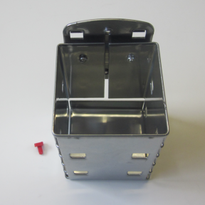 Kartenköcher LWS ist eine robuste Metallbox für die Montage an einer Lochplatte
