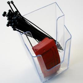 Die Mängelkartenbox 2x kann mit Kabelbindern und Mängelkarten bestückt werden