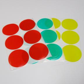 Manometeraufkleber vorgestanzte Folienringe für Standardgrößen