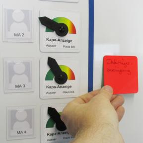 Haftnotiz Mag Flip ist magnetisch haftend auf Whiteboards