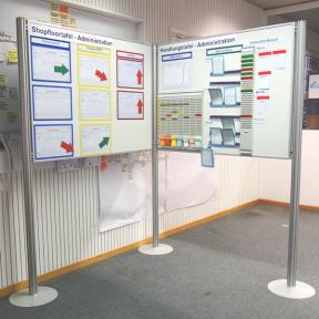 Tafeleck 120 Pro mit Dokumentenhaltern und visuellen Hilfsmitteln