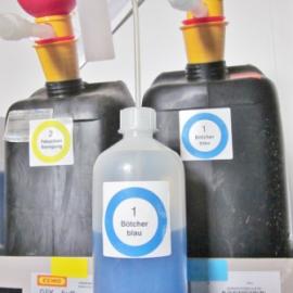 Verbrauchsmittel mit Etikett