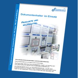 Katalog für Dokumentenhalter im PDF Format - Sichttaschen für jedes Einsatzgebiet