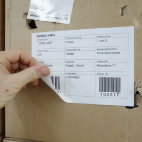 Kanbanbogenetiketten 209x146 A sind einfach und individuell bedruckbar