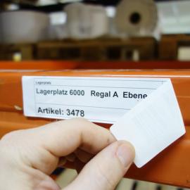Kanbanbogenetikett 209x42 D sind einfach und individuell bedruckbar