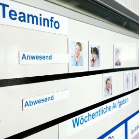 Magnetpatenkarte S zur Visualisierung des Team auf dem Whiteboard