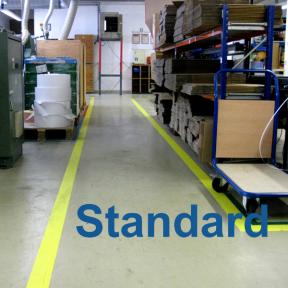 Flächen und Wege werden mit dem B-Tape Standard 100 gekennzeichnet
