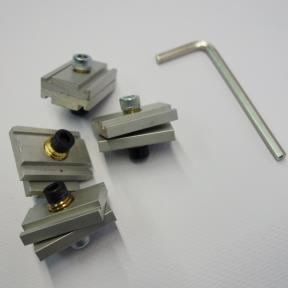 Inbuschlüssel und vier Spannschlösser Pro zur speziellen Spannmechanik