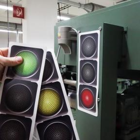Magnetische Ampel mit rot, gelb, grün