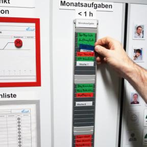 T-Kartenschiene 60 Pro für die visuelle Aufgabensteuerung im Team