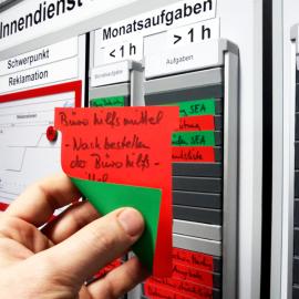 T-Wende-Karte 90 ist wie eine T-Karte nur mit einer roten und einer grünen Seite