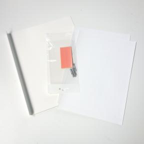 Fahnenschild L mit passenden Etiketten zum Bedrucken