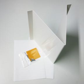 Visual Winkelschild mit Etiketten und Befestigungsmaterial