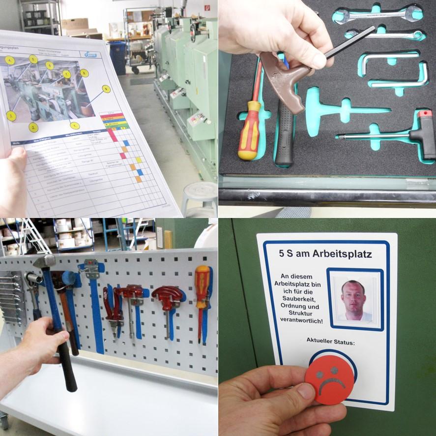 5S Produkte für die Arbeitsplatzgestaltung
