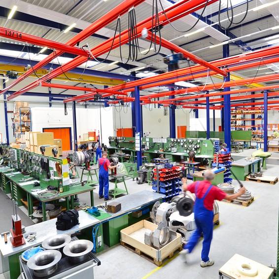 Überblick über Montagearbeitsplätze