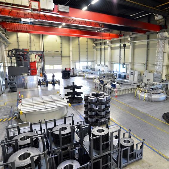 Übersicht in eine Halle Maschinenbau
